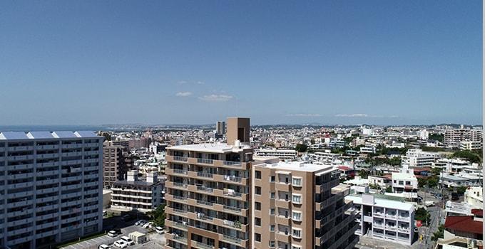 アーバンパレット我如古ヒルズ 13階からの景色